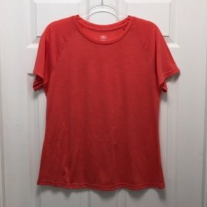 Athletic works workout top salmon color